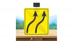 Güneş Enerjili Ledli (YB-5C) Şerit Aktarım Levhası